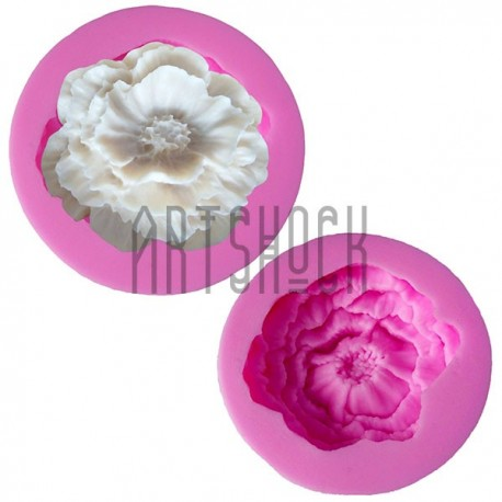 Силиконовый молд 3D (вайнер), цветок, размер: Ø4.8 см., толщина 1.5 см., REGINA
