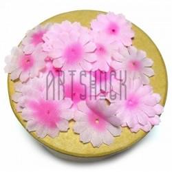 """Набор лепестков """"Ромашки"""" из ткани, цветочки без серединки, розовые, Ø27 мм., 30 штук, REGINA"""