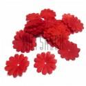"""Набор лепестков """"Ромашки"""" из  ткани, цветочки без серединки, красные, Ø27 мм., 30 штук, REGINA"""