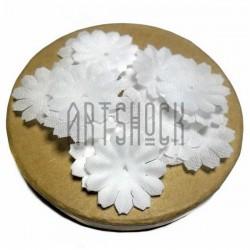 """Набор лепестков """"Ромашки"""" из ткани, цветочки без серединки, белые, Ø27 мм., 30 штук, REGINA"""