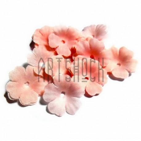 """Набор лепестков """"Розы"""" из ткани, цветочки без серединки, нежно розовые, Ø27 мм., 30 штук, REGINA"""