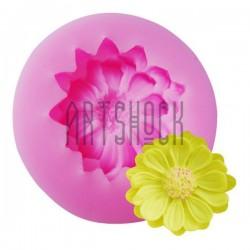 Силиконовый молд 3D (вайнер), цветок хризантемы, размер: Ø4.8 см., толщина 1.4 см., REGINA