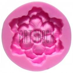 Силиконовый молд 3D (вайнер), бутон цветка, Ø5.7 см., толщина 1.2 см., REGINA