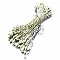 Тычинки для цветов двусторонние, белые, Ø2 мм., длина 6 см., REGINA
