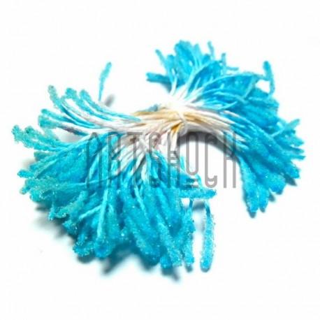 Тычинки для цветов (пестик) двусторонние, голубые, размер 10 мм., длина 6 см., REGINA