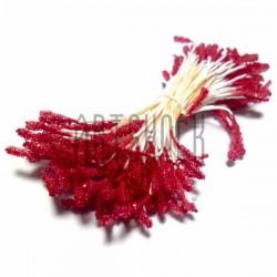 Тычинки для цветов (пестик) двусторонние, красные, размер 10 мм., длина 6 см., REGINA