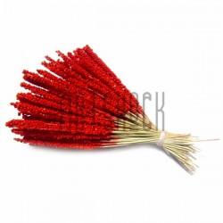 Набор декоративных стеблей, красные, 13 - 15 см., 100 штук, REGINA