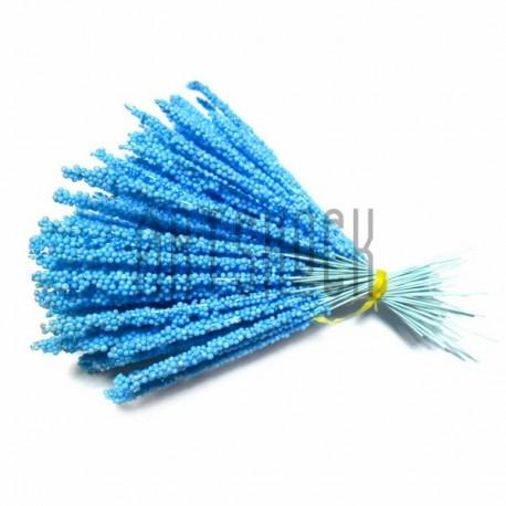 Набор декоративных стеблей, голубые, 13 - 15 см., 100 штук, REGINA