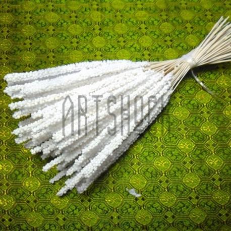 Набор декоративных стеблей, белые, 13 - 15 см., 100 штук, REGINA