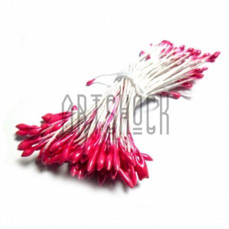 Тычинки для цветов двусторонние, ализариновые, размер Ø2 мм., длина 6 см., REGINA