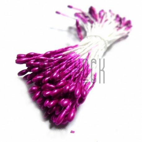 Тычинки для цветов двусторонние, лиловые, размер Ø2 мм., длина 6 см., REGINA