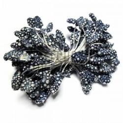 Тычинки для цветов (гроздь) двусторонние, индиго, размер Ø6 мм., длина 6 см., REGINA