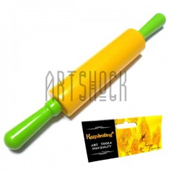 Пластиковая скалка (качалка) для теста и мастики, длина - 18 см., рабочей части - 9.4 см.