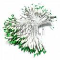 Тычинки для цветов двусторонние двухцветные, бело - зелёные, размер 3 мм., длина 6 см., REGINA