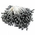 Тычинки для цветов двусторонние, серебро, крупные, размер Ø3 мм., длина 6 см., REGINA