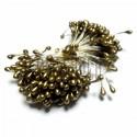 Тычинки для цветов двусторонние, золото, крупные, размер Ø3 мм., длина 6 см., REGINA