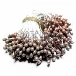Тычинки для цветов двусторонние, жемчужные кремовые, крупные, размер Ø3 мм., длина 6 см., REGINA