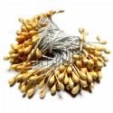 Тычинки для цветов двусторонние, жемчужные желтые, крупные, размер Ø3 мм., длина 6 см., REGINA
