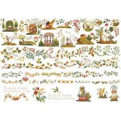 Рисовые карты для декупажа, 29.7 x 21 см., 20 гр/м², ITD Collection