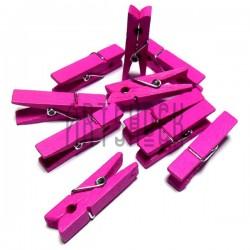 Набор розовых деревянных декоративных прищепок, 0.7 x 3.5 см., 10 штук, REGINA