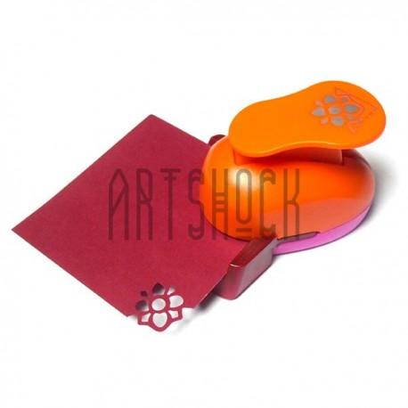 """Угловой штамп (компостер) """"Цветок"""" для скрапбукинга, эмбоссинга и кардмейкинга, 2.5 см., Kamei"""