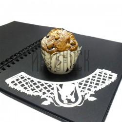 Ажурная накладка (формочка) для кексов, маффинов, капкейков с индивидуальным узором, кремовая, 25 штук