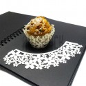 Ажурная накладка (формочка) для кексов, маффинов, капкейков с индивидуальным узором, молочная, 25 штук