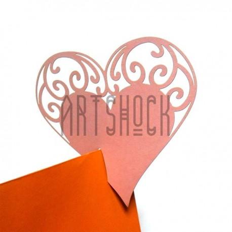 """Декоративные украшения для бокалов, посадочные карточки для гостей """"Сердце"""", розовое, 25 штук"""