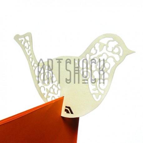 """Декоративные украшения для бокалов, посадочные карточки для гостей """"Птица"""", молочные, 25 штук"""