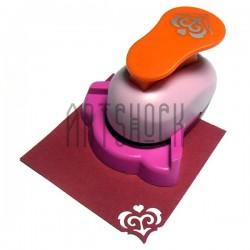 """Угловой штамп (компостер) """"Дамасский узор"""" для скрапбукинга, эмбоссинга и кардмейкинга, 2.5 см., Kamei"""