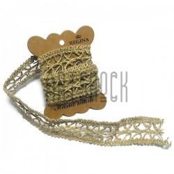 Джутовая тесьма (веревка шпагат), плетеная натуральная пеньковая, ширина - 3 см., толщина - 2 мм., REGINA