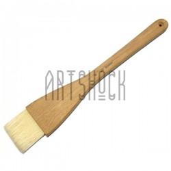 Кисть плоская из волоса щетины с цельнодеревянной ручкой, №5, BOMEGA