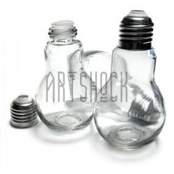 Стеклянная бутылка для жидкости и специй с алюминиевой крышкой (диаметр горлышка 1.7 см., высота 9.5 см.), REGINA