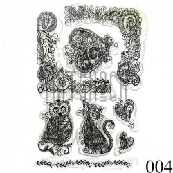 """Штампы для скрапбукинга (силиконовые штампы), набор """"Антистресс"""", 10 х 15.5 см."""