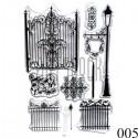 """Штампы для скрапбукинга (силиконовые штампы), набор """"Fence"""", 10 х 15.5 см."""