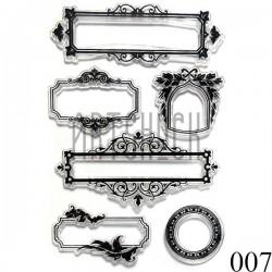 """Штампы для скрапбукинга (силиконовые штампы), набор """"Рамки"""", 11 х 15.5 см."""