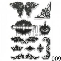 """Штампы для скрапбукинга (силиконовые штампы), набор """"Корона Императора"""", 11 х 15.5 см."""