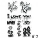 """Штампы для скрапбукинга (силиконовые штампы), набор """"I LOVE YOU"""", 11 х 15.5 см."""
