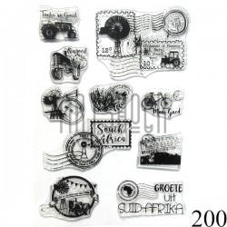 """Штампы для скрапбукинга (силиконовые штампы), набор """"South Africa"""", 15 х 20.5 см."""
