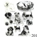 """Штампы для скрапбукинга (силиконовые штампы), набор """"Собаки"""", 15 х 20.5 см."""