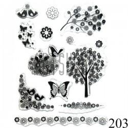 """Штампы для скрапбукинга (силиконовые штампы), набор """"Летняя пора"""", 15 х 20.5 см."""