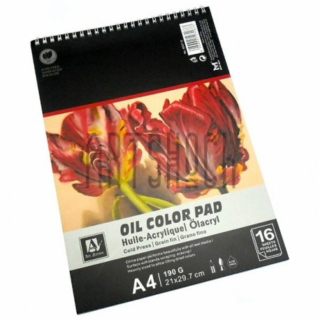 Альбом - склейка бумаги для масляных работ, 210 x 297 мм., 190 гр./м²., 16 листов, Art Nation