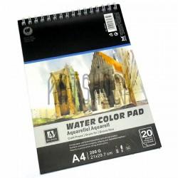 Альбом бумаги для акварели, 210 x 297 мм., 200 гр./м2., 20 листов, Art Nation