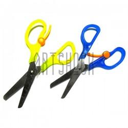 Ножницы детские цветные с возвратным механизмом, 13 см., длина лезвия 6.5 см., Penka