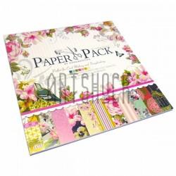 Набор бумаги для скрапбукинга, 12 дизайнов по 2 листа + 3 листа вырубки, 27 листов, 30.5 x 30.5 см., 160 гр/м²
