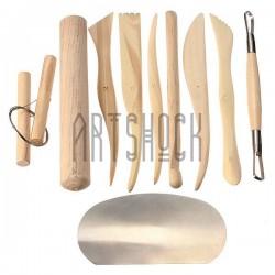Набор деревянных скульптурных стеков, 10 предметов, Maries