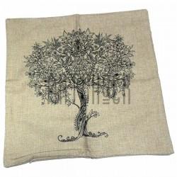 """Наволочка с рисунком - антистресс """"Дерево"""", 45 x 45 см."""