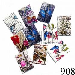 """Набор деревянных декоративных пуговиц белых """"Цветы"""", 2.8 x 4 см., 10 штук, REGINA"""