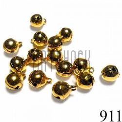 Набор бубенчиков металлических декоративных золотых Hand Made, Ø0.8 см., 15 штук, REGINA