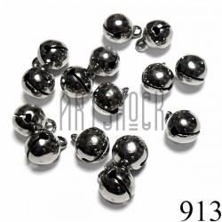 Набор бубенчиков металлических декоративных темное серебро Hand Made, Ø0.8 см., 15 штук, REGINA